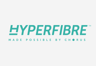 Hyperfibre made possible by Chorus logo
