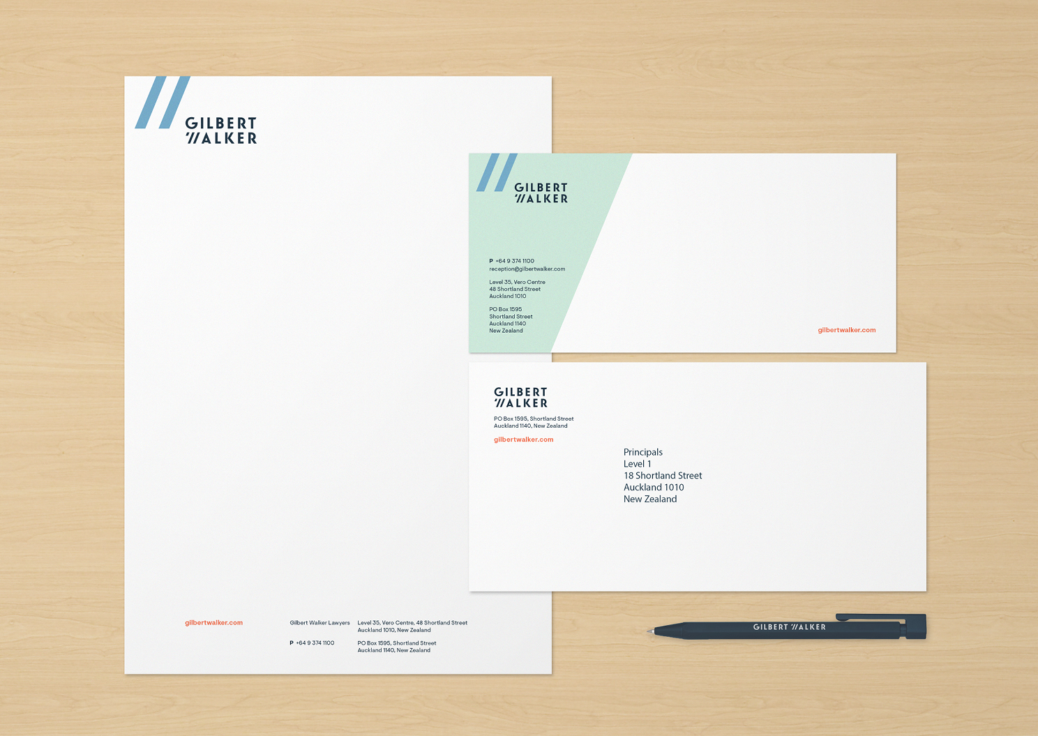 Gilbert Walker stationery